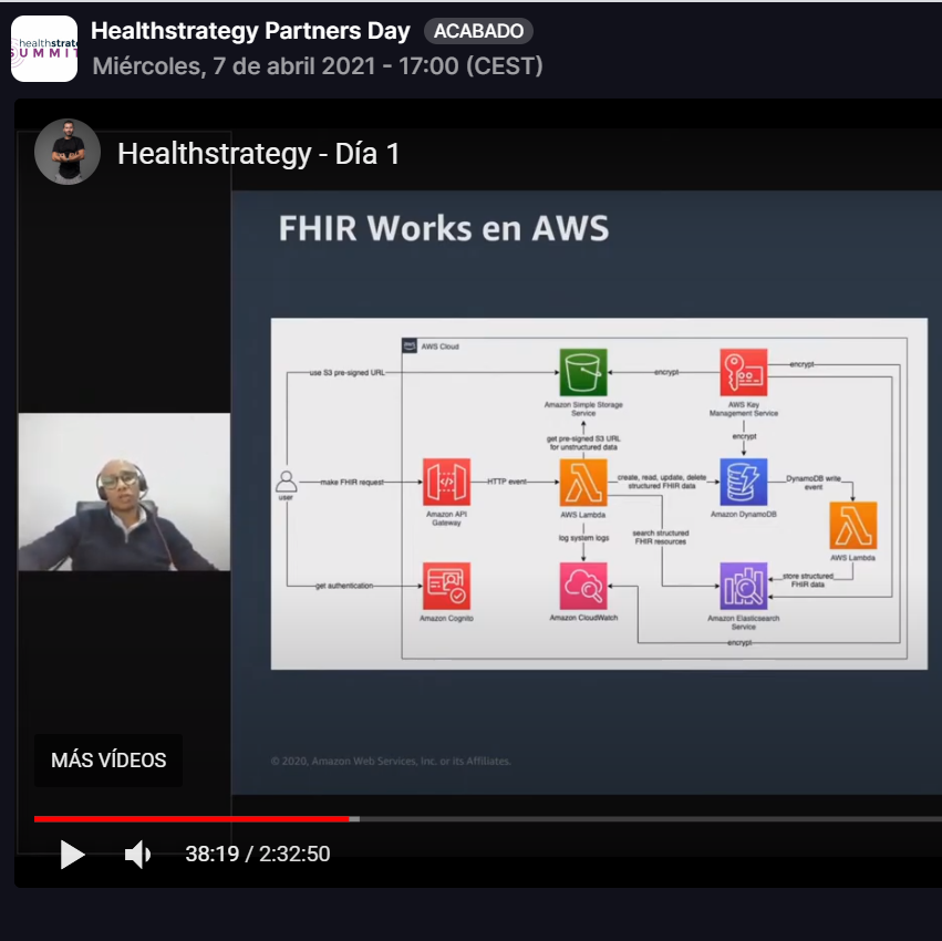 Technical session to present the AWS service offering at Healthstrategy Summit