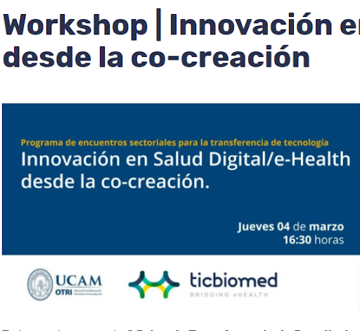Costaisa presents its resident training platform at the Ticbiomed and UCAM digital health workshop